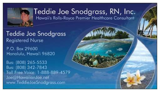 Teddie Joe Snodgrass, RN (Have License - Will Travel)